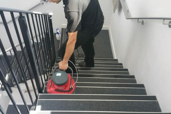 Communal stair nosing and carpet clean. Eynsbury Marina, St. Neots