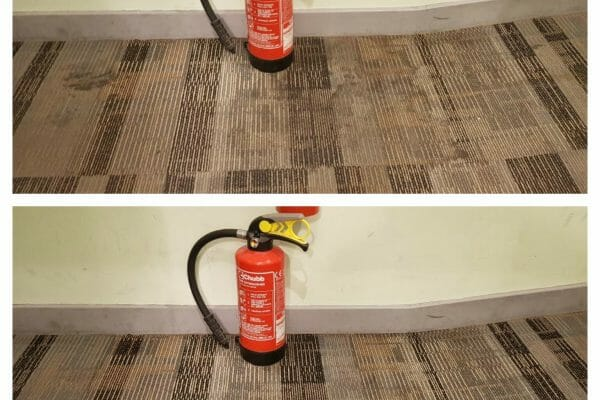 Heavy staining before and after Specsavers Peckham London