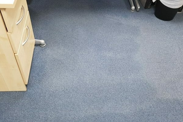 Office carpet tiles after clean at Britannica Technologies Guildford